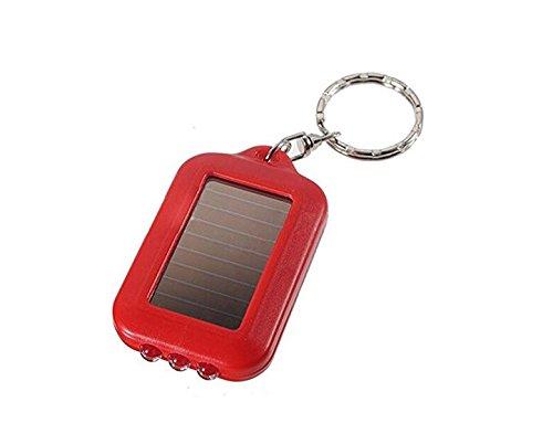 1.1 Mini Keychain (Wesource Mini Solar Power Flashlight Keychain Key Ring Creative Decoraiton for Bag_Red)