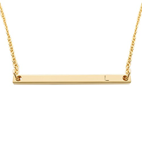 Initial Bar Necklace Personalized Sorority