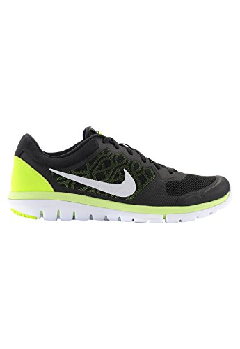 Nike Flex 2015 RN - Zapatillas de running unisex, color negro / lima / blanco