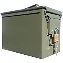 Ammo Can Man LLC New Blank Fat 50 lockable ammo can with Master Lock and lock mechanism