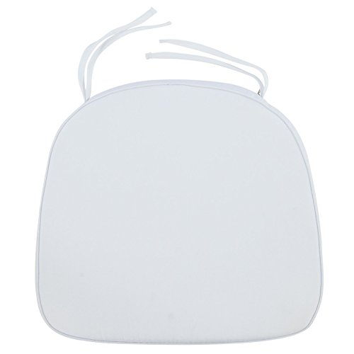 LeisureMod Modern Dining Chair Cushion Pads (White) (Cushion Chair White)