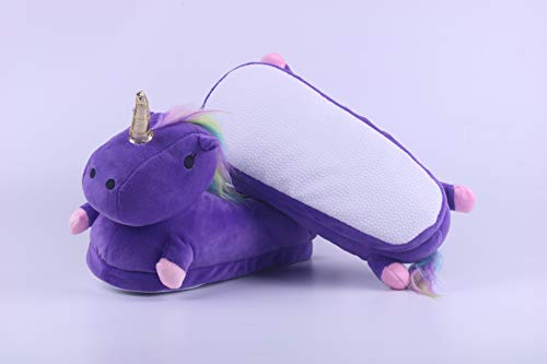 Stivali Slippers Invernali Scarpa Caldo Peluche Bambino Adulto 3d Mantieni Cartoni Cnimali Pantofole Bambina uk Unicorno Life Ciabatte Viola Licy Donna Led fnHgaZB