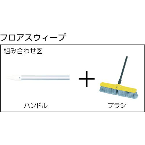 Rubbermaid Commercial Executive Series Rough-Surface Heavy-Duty Sweep, Plastic Broom Head, 24'', 1861212 by Rubbermaid Commercial Products (Image #2)