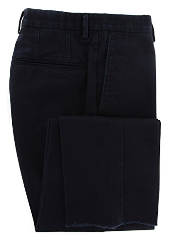Incotex Midnight Navy Blue Solid Pants - Slim - 40/56 by Incotex