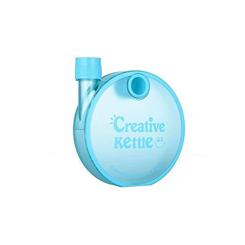 tic Round Bottle | Flat Snail Designed Bottle | School Bottle | Office Bottle | Travel Notebook Water Bottle - 350 ML - BLUE COLOR ()