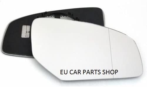 Q7 RIGHT SIDE Wing Mirror Glass With Base Heated Wide Angle 2009 July To 2014