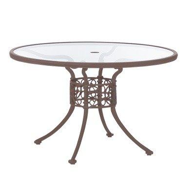 Woodard Landgrave 42135R / 42135C Chateau 48u0026quot; Round Umbrella Table