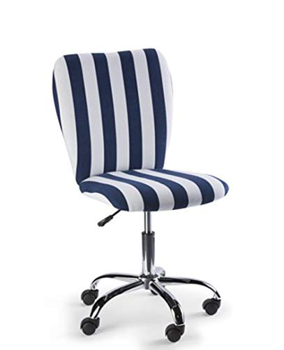 Urban Shop 784857795301 Rugby Stripe Swivel Office Chair Navy/White (Stripe Office Chair)