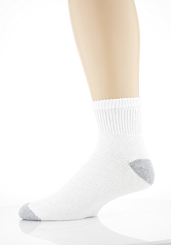 Gildan Men's Big and Tall Ankle Socks (10 Pair Pack), White, Shoe Size: - Size Of Men