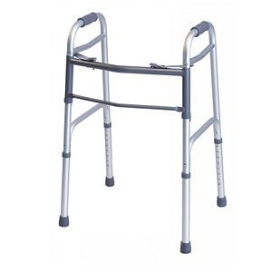 Graham-Field 716070A-1 Everyday Adult Folding Walker, Dual Release, Silver