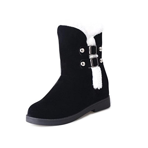Bottines de D'Hiver Bottes Forme Chaussures Plate GongzhuMM Slip Neige Femmes Chaudes Femme Bottes gASqWW