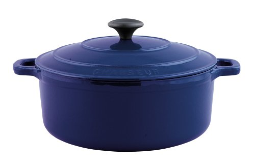 Paderno World Cuisine 6.25 Inch Blue Round Dutch Oven