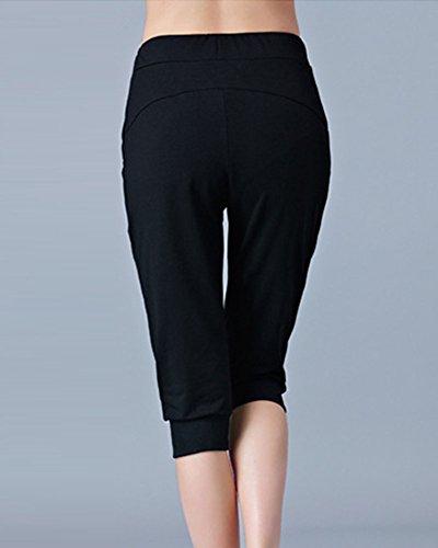 Sportivi Forti Larghi Yoga Nero Pantaloni Baggy Taglie Harem ZIZ0RBx