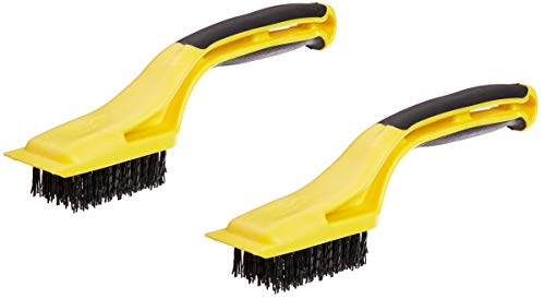 Hyde Tools 46804 Flexible Nylon Stripping Brush with Plastic Scraper and 1-1/8-Inch x 2-1/4-Inch Brush Area (2)