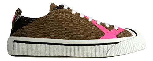 Pink Burberry Baskets 4066353 Chek Femme Neon Pour Beige Classic qAZ8qw