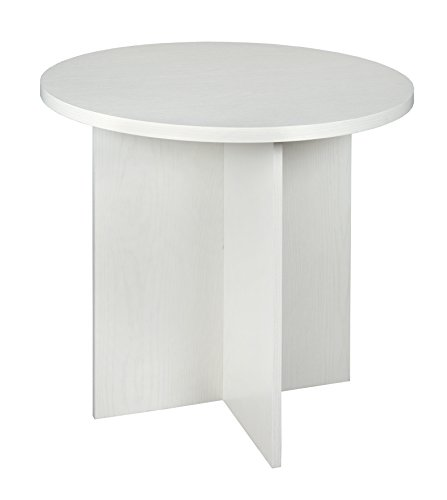 Niche NRT3029WH Mod Round Table with No-Tools Assembly 30-inch White Wood Grain