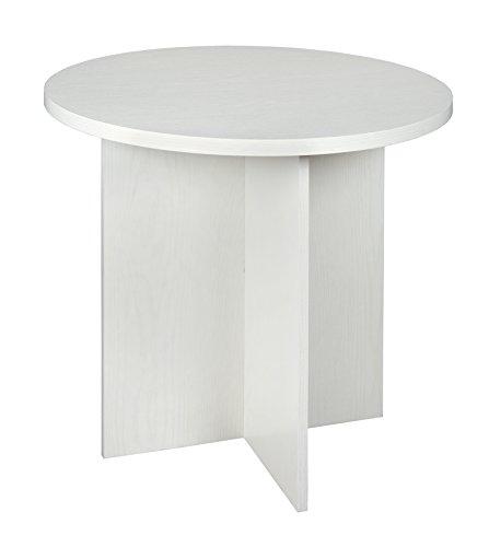 Niche Round Table, 30″, White Wood Grain