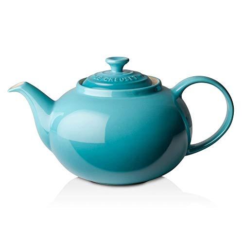 Le Creuset PG0328-0017 Teal Classic Teapot, 1 2/5 quart, - Creuset Classic Le Teapot