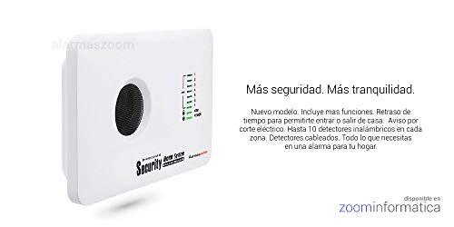 ☆Alarma AZ018-2 casa hogar negocio GSM sin cuotas inalámbrica. Voces en castellano.Sin cuotas de conexión. Aviso llamada o SMS.