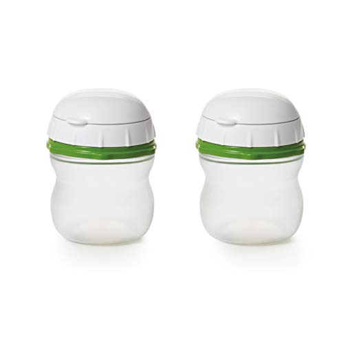 OXO Good Grips On-the-Go Silicone Squeeze Bottle (2 Pack), Green ()