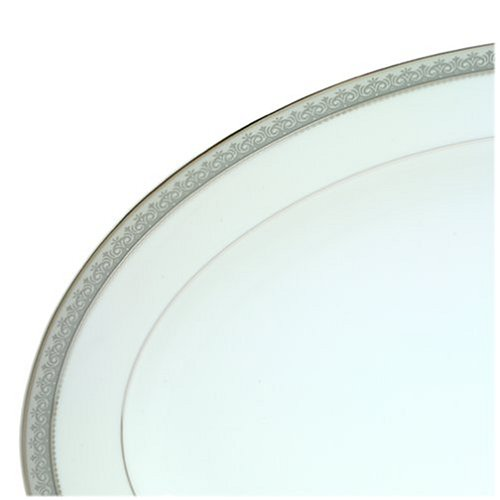 14 Silver Mikasa Platinum Crown Oval Platter