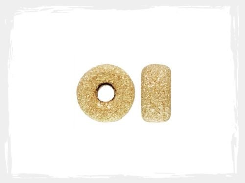 Roundel Spacer - 14k Gold Filled 3mm Stardust Roundel Spacer Beads 12pcs