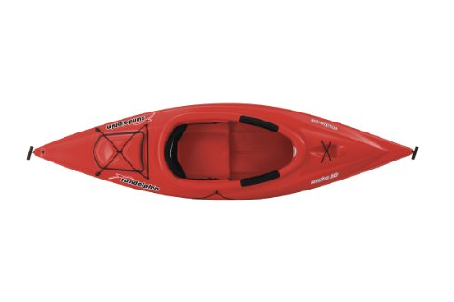SUNDOLPHIN Sun Dolphin Aruba Sit-in Kayak (Red, 10-Feet)