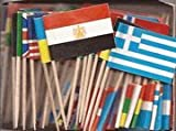 mini country flags - Box of 100 Different Wold Flags Country Flags Toothpick Flags Perfect for the Olympics