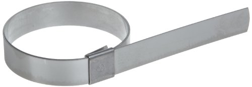 BAND-IT CP9S99 5/8'' Wide x 0.025'' Thick 2-1/4'' Diameter, 201 Stainless Steel Center Punch Clamp (100 Per Box) by Band-It