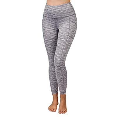 90 Degree By Reflex High Waist Tummy Control Squat Proof Ankle Length Leggings with Pockets at Women's Clothing store