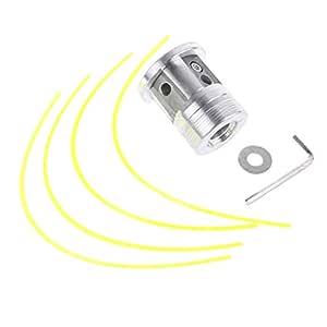 zhoujinf - Cabezal de Aluminio para Cortar césped con 4 líneas de ...