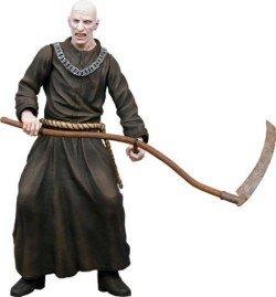 NECA Resident Evil 4 Series 2 Action Figure Black Bald Zealot with Scythe