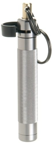 ASP Palm Defender Pepper Spray with Keychain, Quick Release, OC, Police Strength, Heat Insert Included, 3 Foot Range, Discreet (Silver)