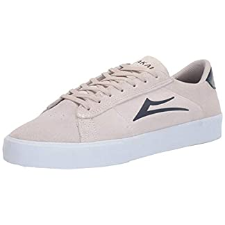 Lakai Footwear Newport White/Navy Suedesize Tennis Shoe, White/Navy Suede