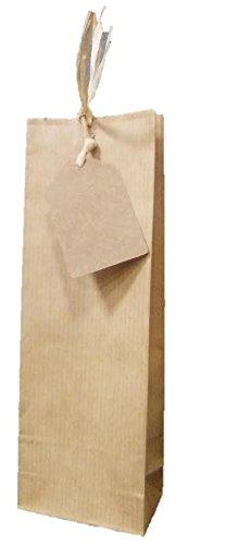 100 Bolsas kraft con etiqueta colgante: Amazon.es: Hogar