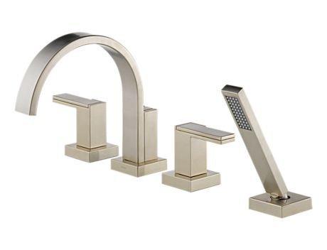 iderna Roman Tub With Hand Shower, Brushed Nickel ()