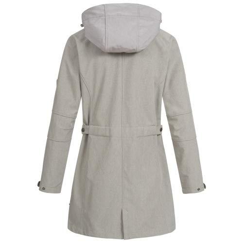klassische Schuhe detaillierter Blick starke verpackung Leichter Softshell Mantel Damen DEPROC Glace Silver Women ...