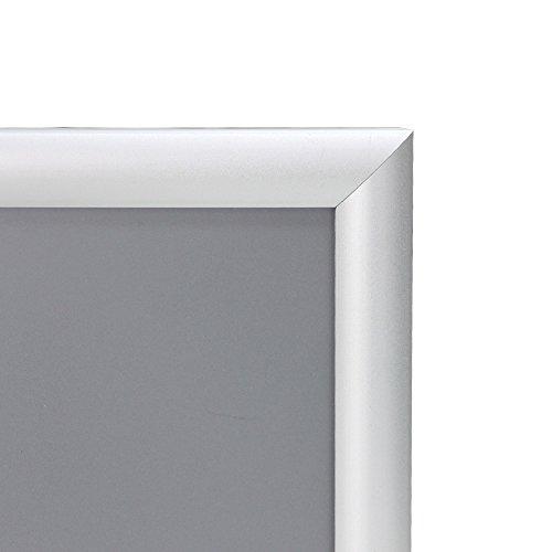 VIZ-PRO A3 Silver Snap Frames / Clip Frames, Mitred Corner, 0.98