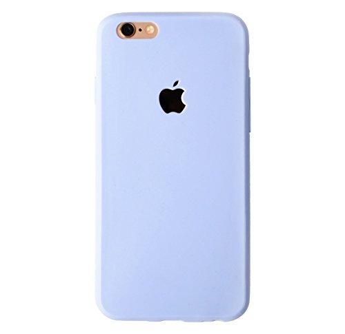 iPhone 6 Case, Simple & Small® Pastel Tone Matte Flexible TPU Logo Cutout Case for Apple iPhone 6 (4.7 inch)(Pastel Blue)