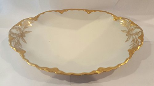 Ranson By Haviland Gold Trim Oval Serving Platter 14 In ()