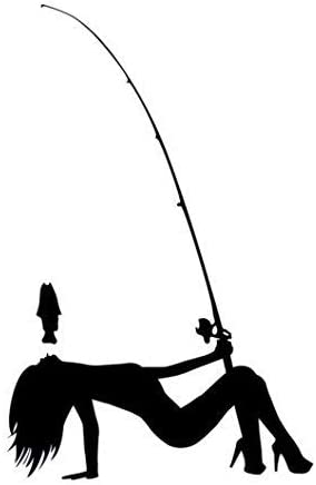Amazon Com Fishing Pole Dancer Vinyl Decal Sticker Car Auto Wall Laptop Cell Phone Die Cut Vinyl Decal For Windows Cars Trucks Tool Boxes Laptops Macbook Virtually Any Hard Smooth Surface Automotive