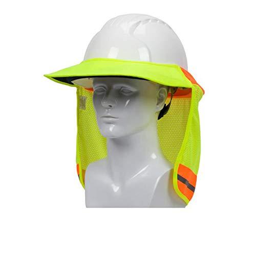 2 Pack Hard Hat Sun Shield,Full Brim Mesh Neck Sunshade for Hardhats,High Visibility,Reflective by Shine US (Image #4)