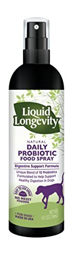 Natural Daily Liquid Probiotic Food Spray for Dogs - Supports Immune Function and Healthy Digestion in Dogs by Liquid Longevity