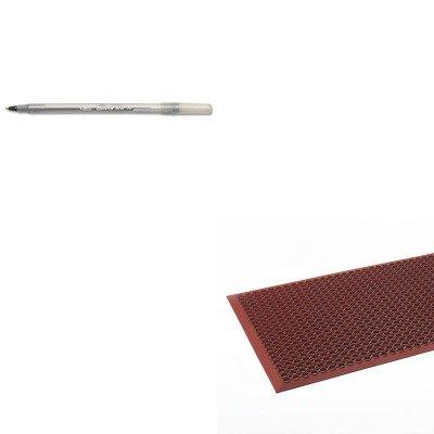 KITBICGSM11BKCWNWSCT35TC - Value Kit - Crown WSCT35 TCO Safewalk-Light Anti-Fatigue Drainage Mat, 3' x 5' (CWNWSCT35TC) and BIC Round Stic Ballpoint Stick Pen (BICGSM11BK)