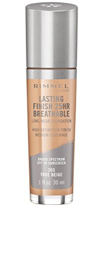(Rimmel Lasting Finish Breathable Foundation, True Beige, 1 Fluid Ounce)