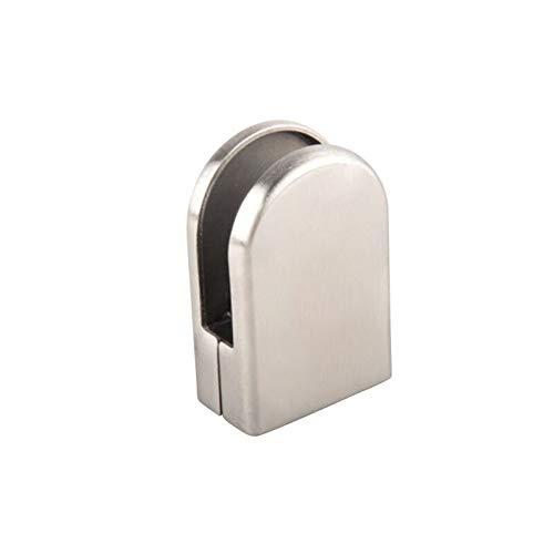 33 WUPYI2018 24 x Edelstahl Glasklemme F/ür Glass//Door 6-7mm Klemmhalter Glashalter 53 20mm Glasklemmhalter