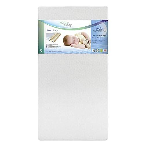Evolur Sleep Dual Stage Comfort-Lite Foam Mattress, Silver Star, 5″