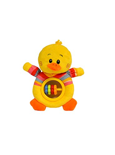 Baberoo Soft Stuffed Animal Toy Abacus Rattle for Babies, Duck, 5 Inches