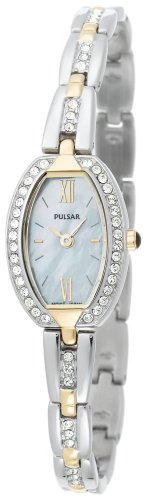 Pulsar Women's PEG892 Crystal Accented Dress Two-Tone Stainless Steel Watch