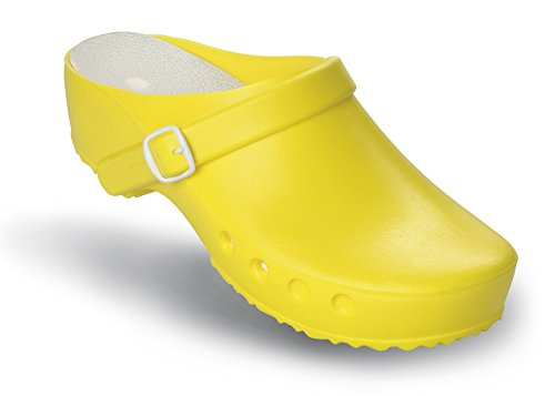 ohne Gelb OP Schürr Fersenriemen und mit Fersenriemen Schuhe mit Chiroclogs Classic axYCpwq